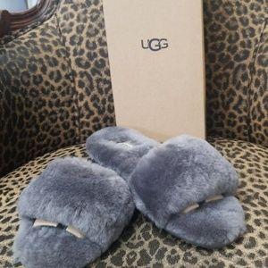 Ugg fluff slide slipper size 10 new